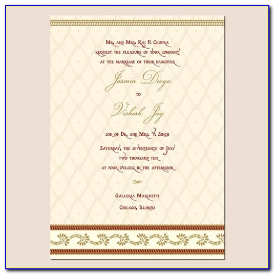 Free Printable Indian Wedding Invitation Templates