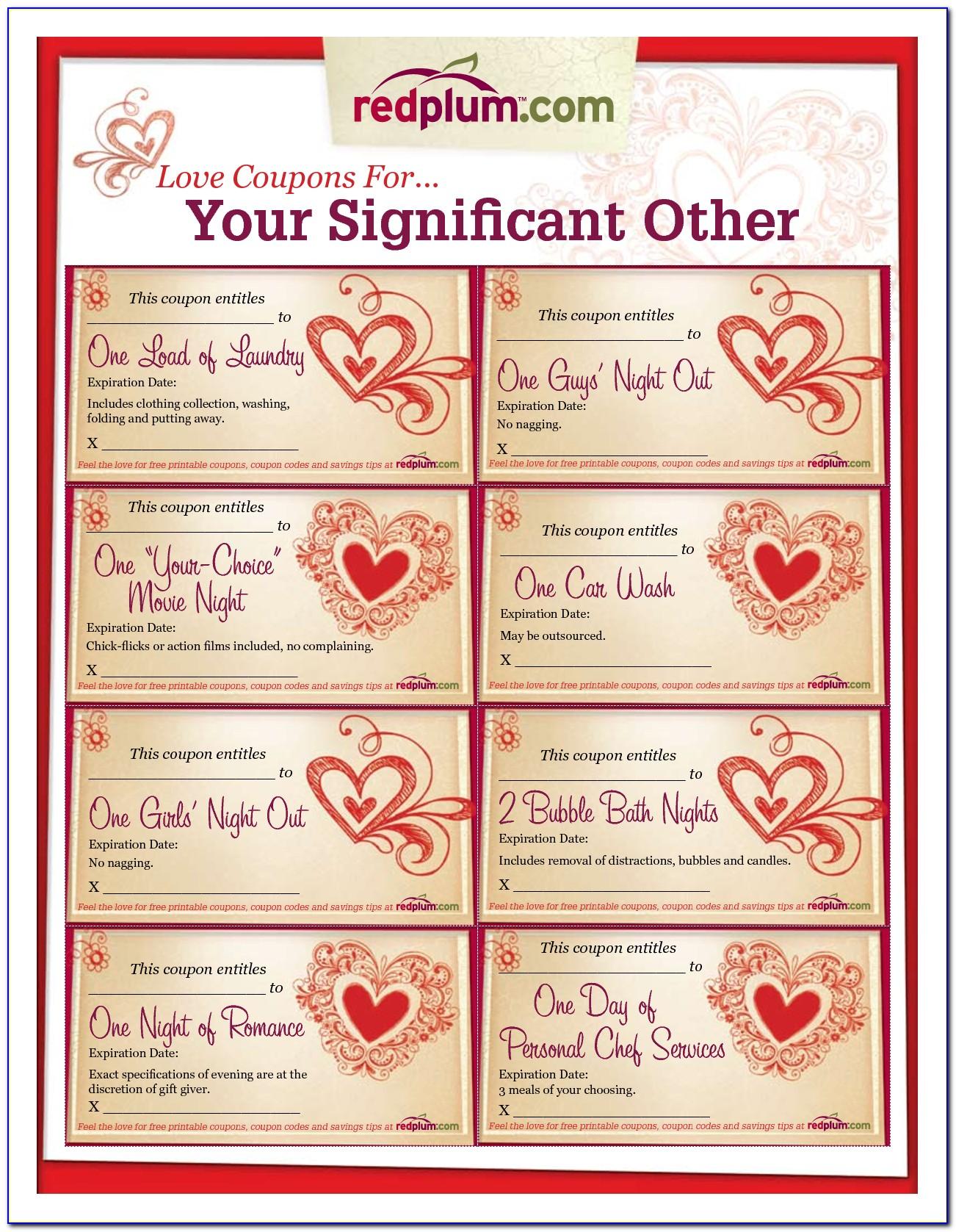 Free Printable Love Coupon Book Template
