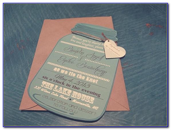 Free Printable Mason Jar Wedding Invitations