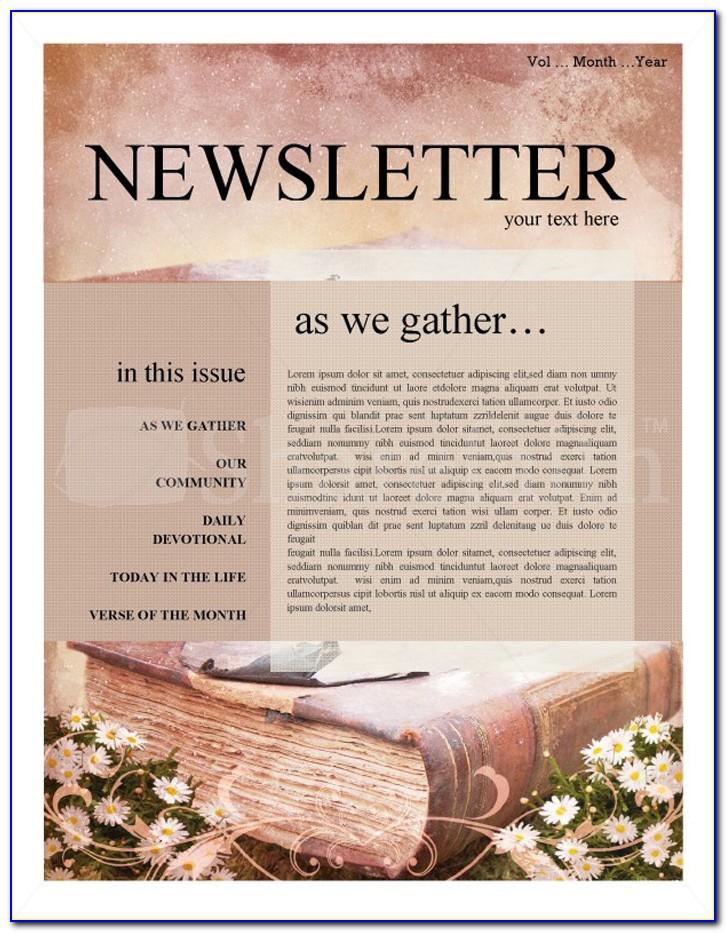 Free Printable Religious Newsletter Templates
