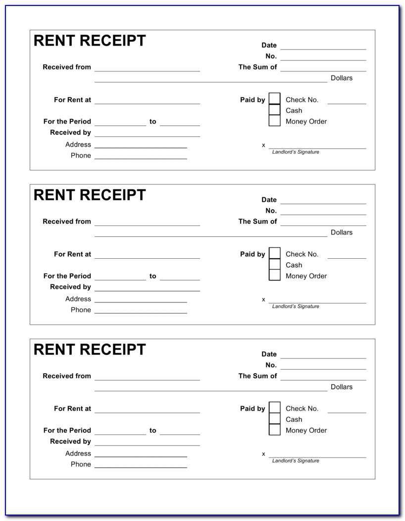 Free Printable Rent Receipt Template