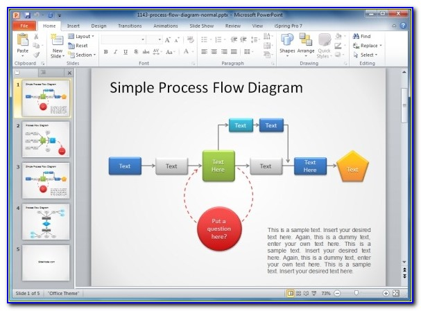 Free Process Flow Chart Template Word
