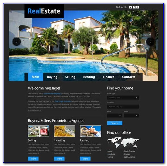 Free Real Estate Agent Website Templates
