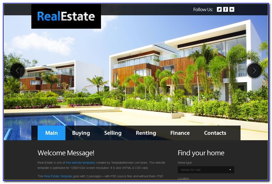 Free Real Estate Website Templates Idx