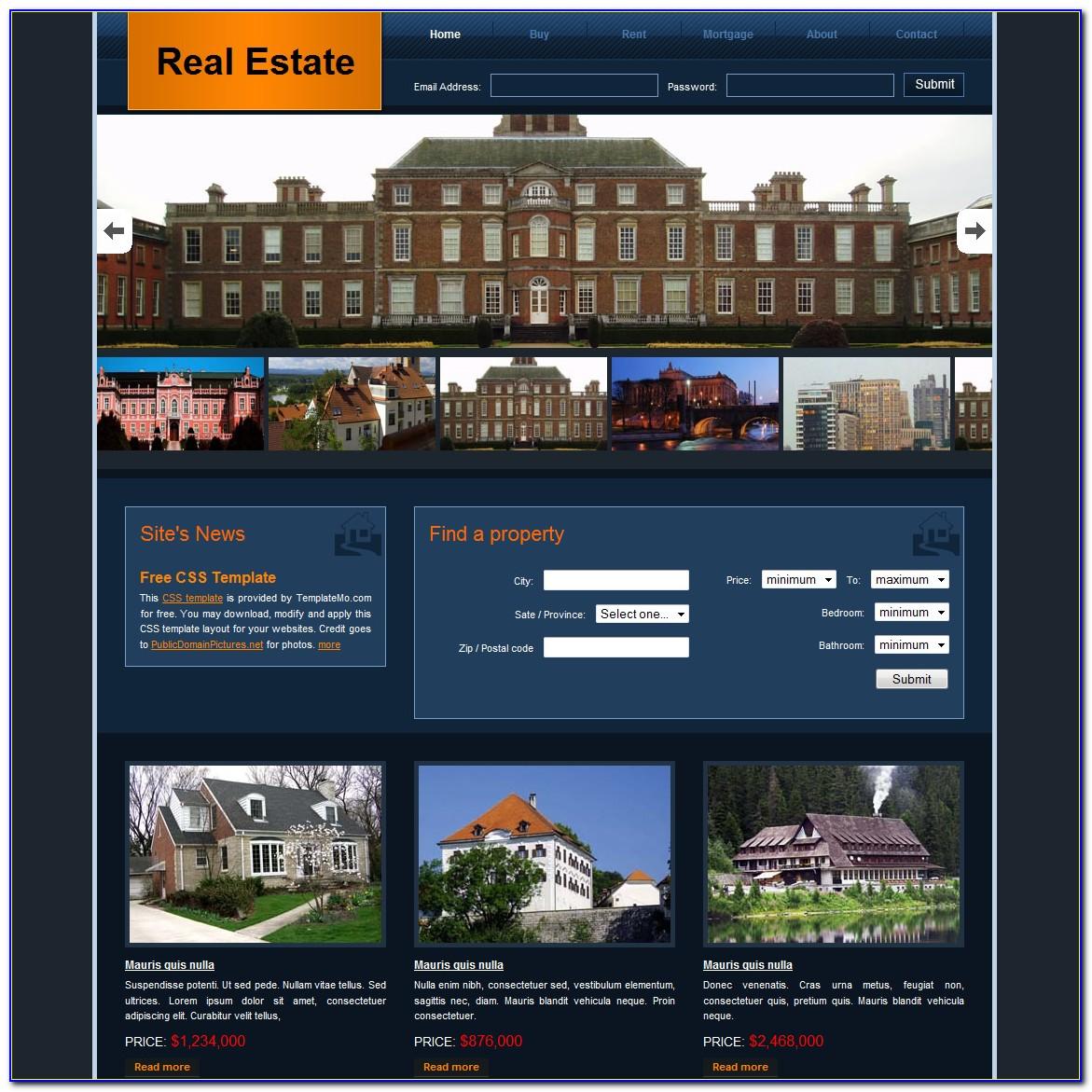Free Real Estate Website Templates Wordpress