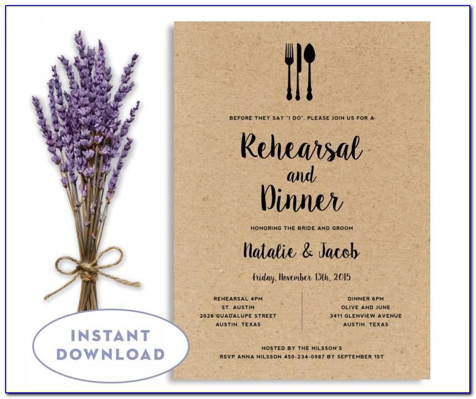 Free Rehearsal Dinner Invitation Template Word
