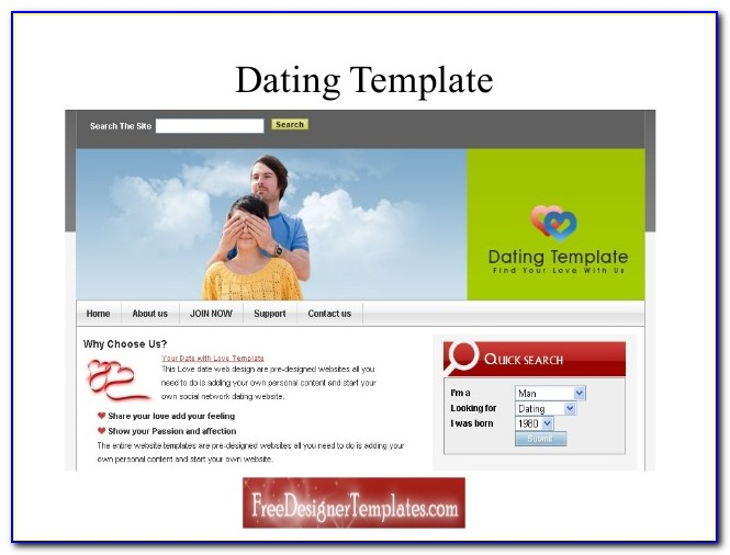 Free Responsive Dating Website Templates