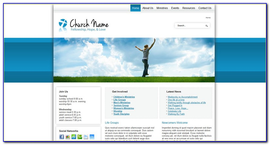 Free Responsive Joomla Church Templates