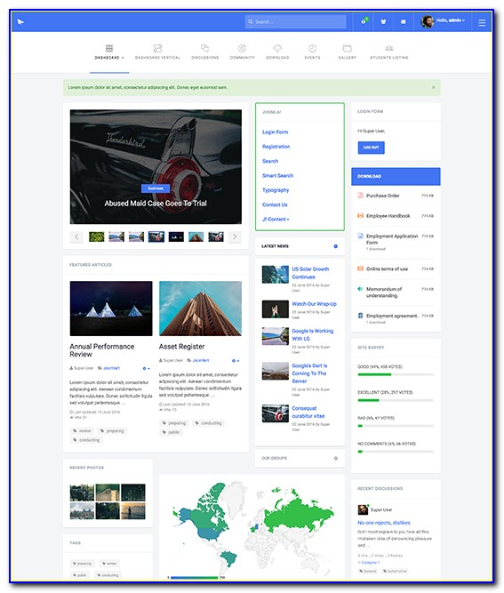 Free Responsive Joomla Website Templates