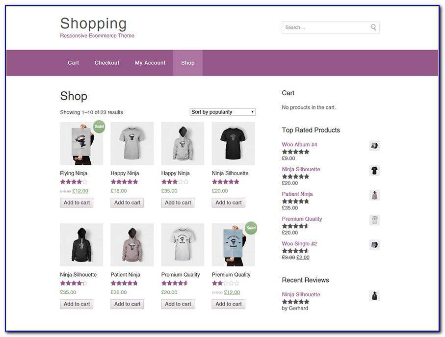 Free Responsive Web Shop Templates