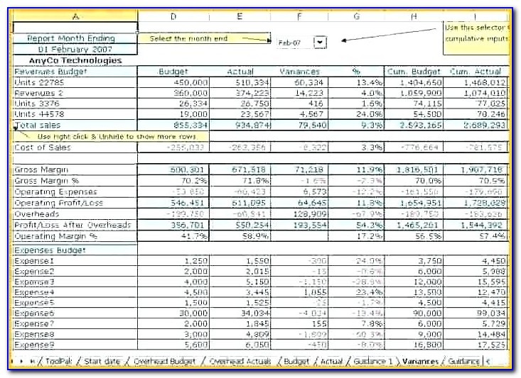 Free Restaurant Accounting Template
