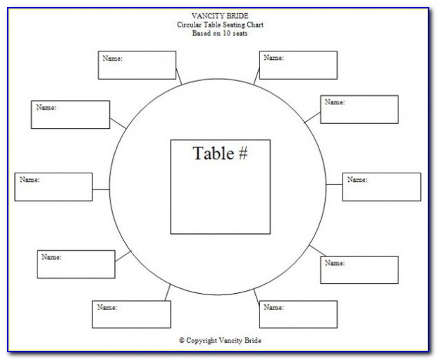 Free Restaurant Seating Chart Template