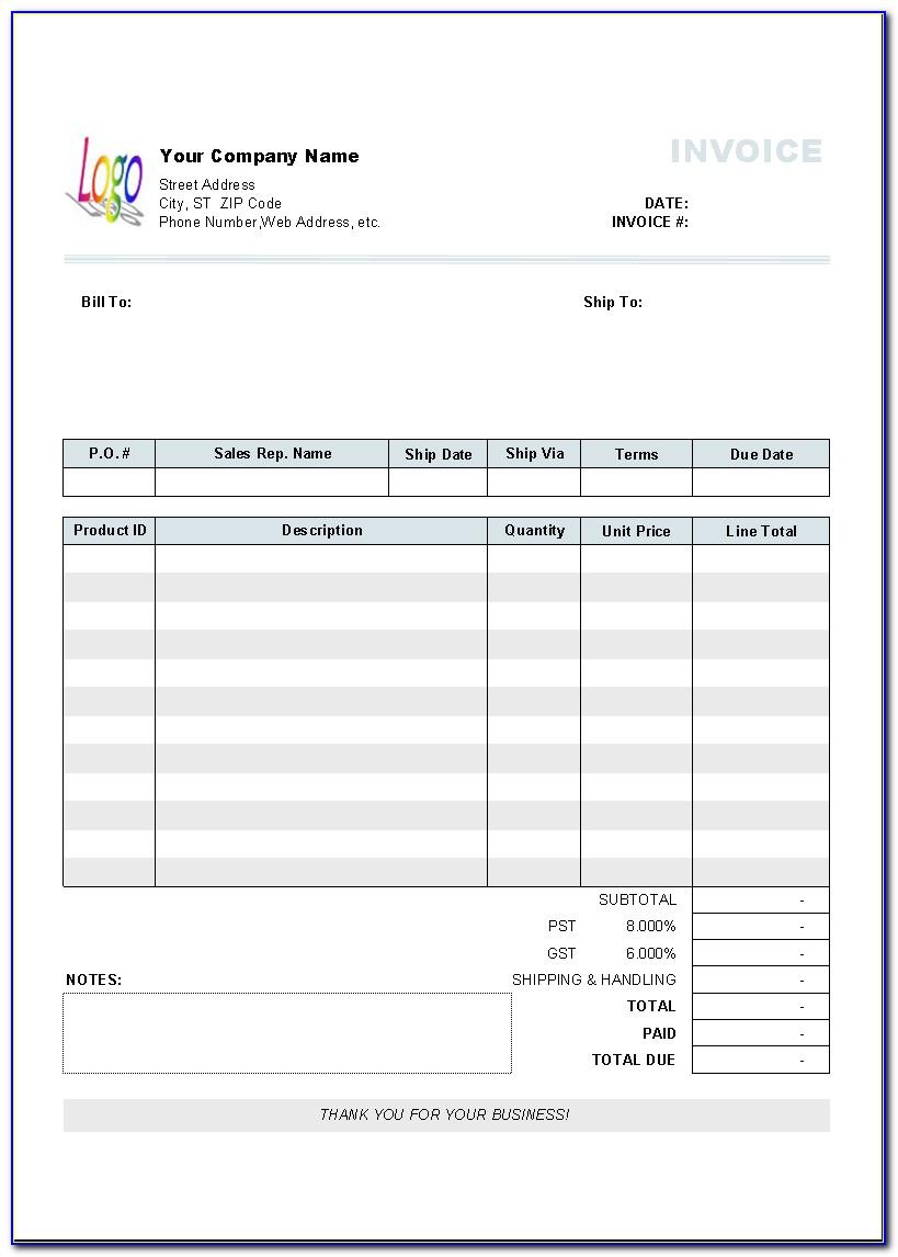 Free Sales Invoice Template Pdf