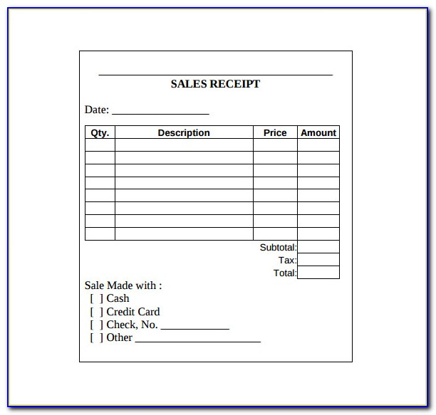 Free Sales Receipt Template Download