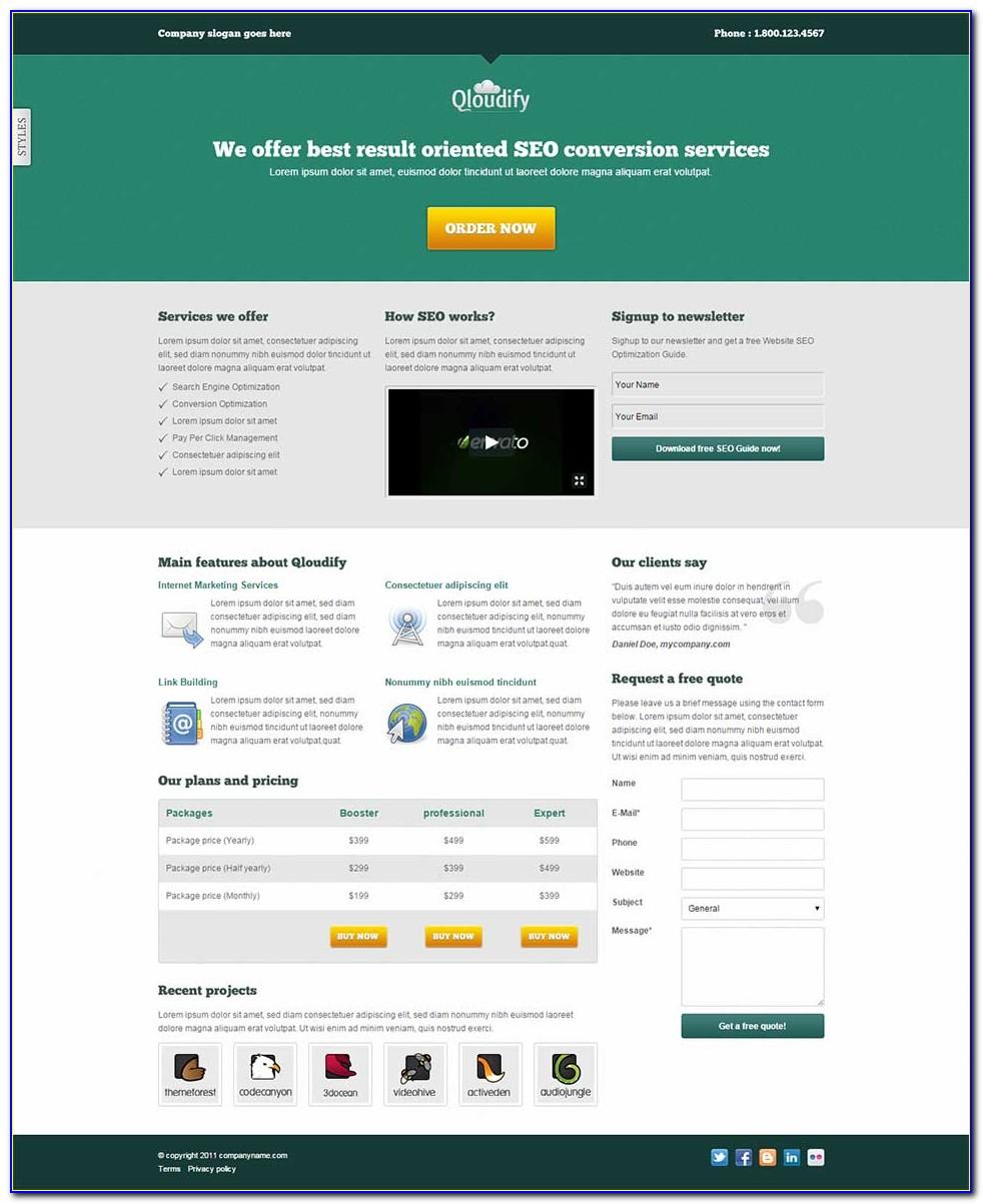 Free Seo Landing Page Template