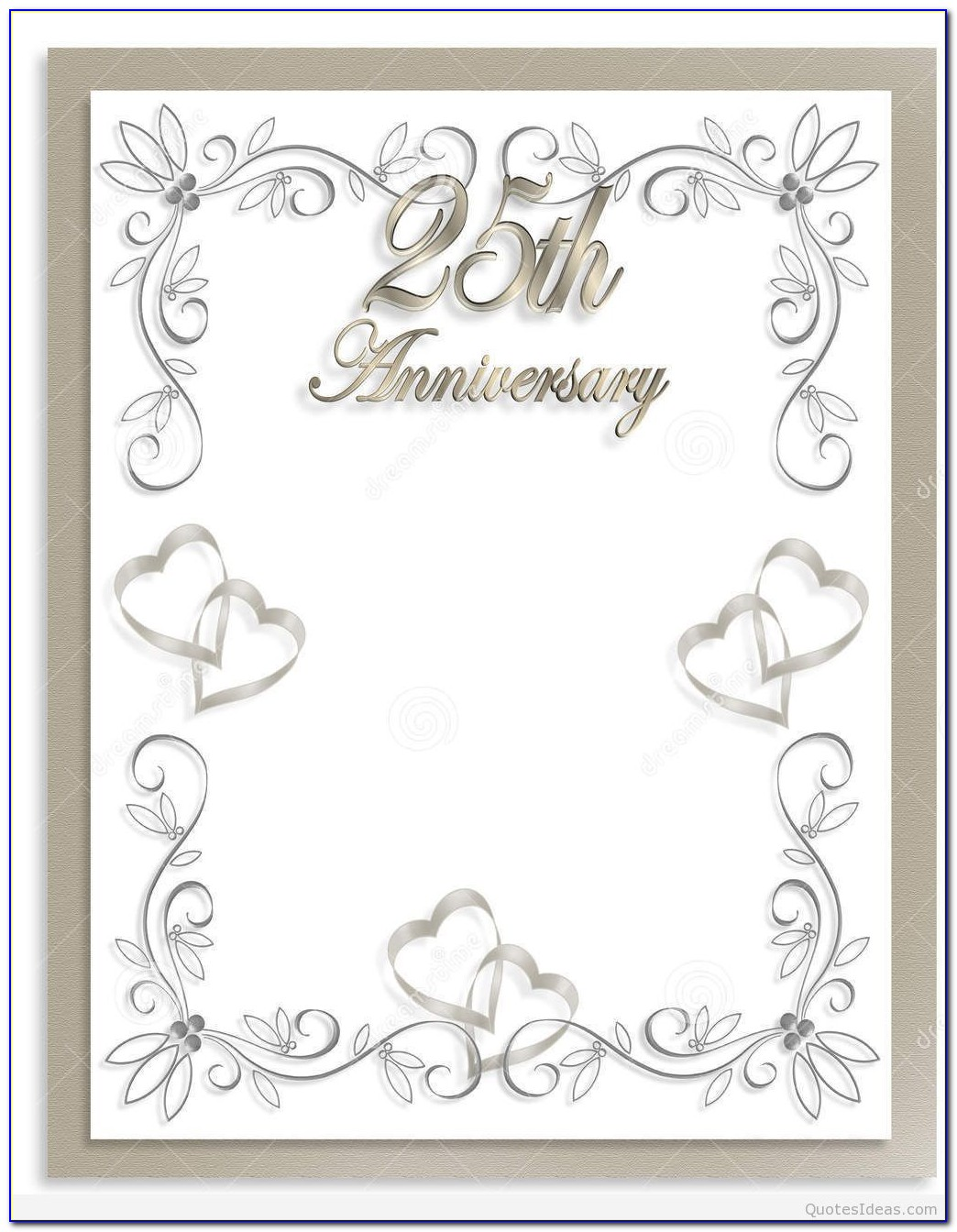 Free Silver Wedding Anniversary Invitation Templates