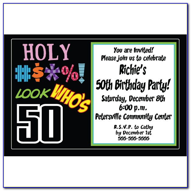 Free Surprise 50th Birthday Party Invitation Templates