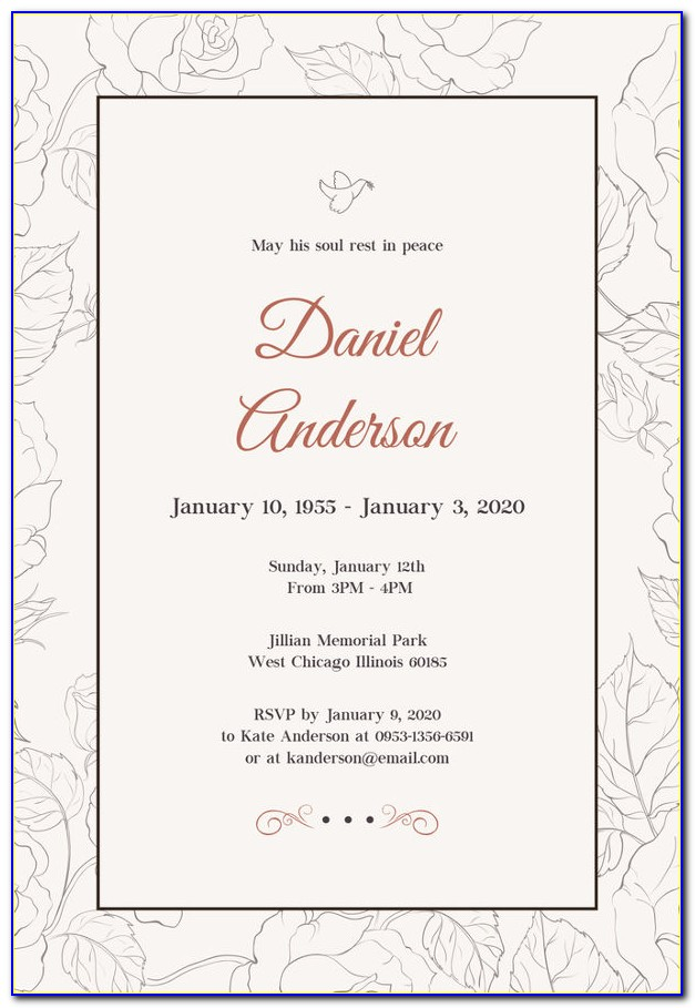 Free Templates For Funeral Announcement