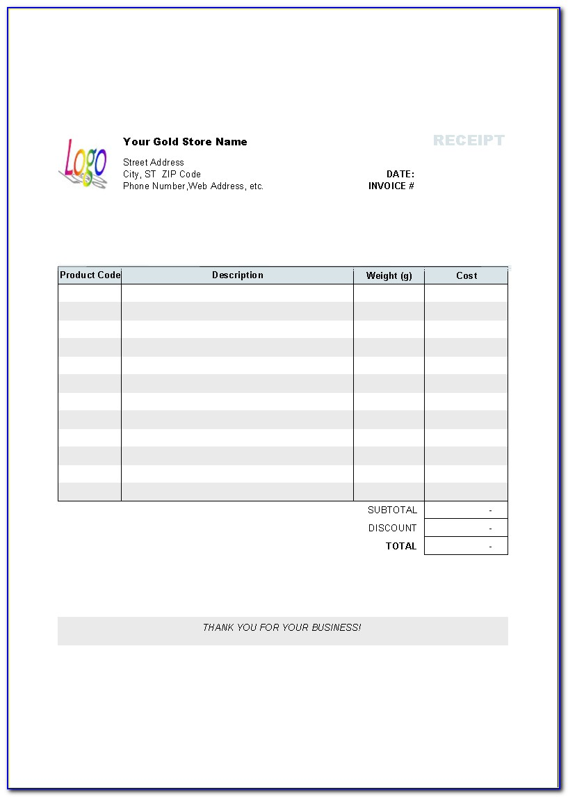 Free Templates For Invoices And Receipts