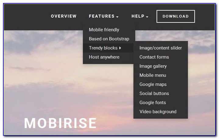 Free Website Template With Drop Down Menu And Image Slider