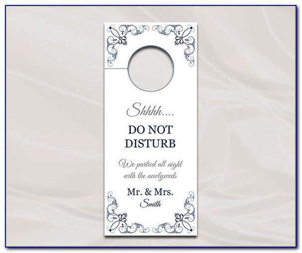 Free Wedding Door Hanger Template For Word