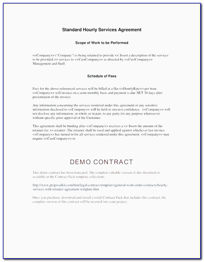 Freelance Retainer Contract Template