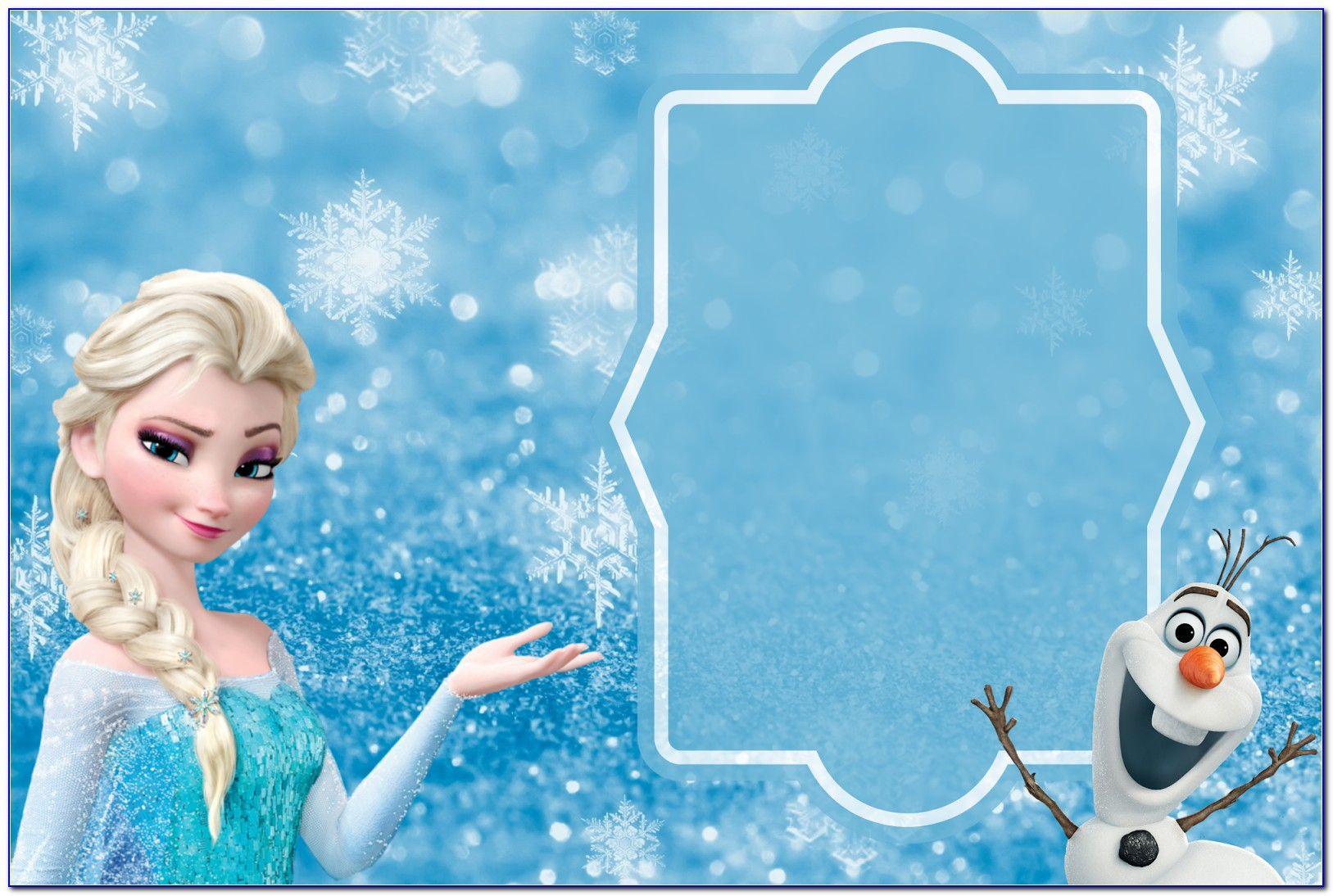 Frozen Party Invitation Template Free