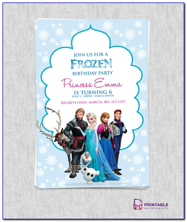 Frozen Party Invite Word Template