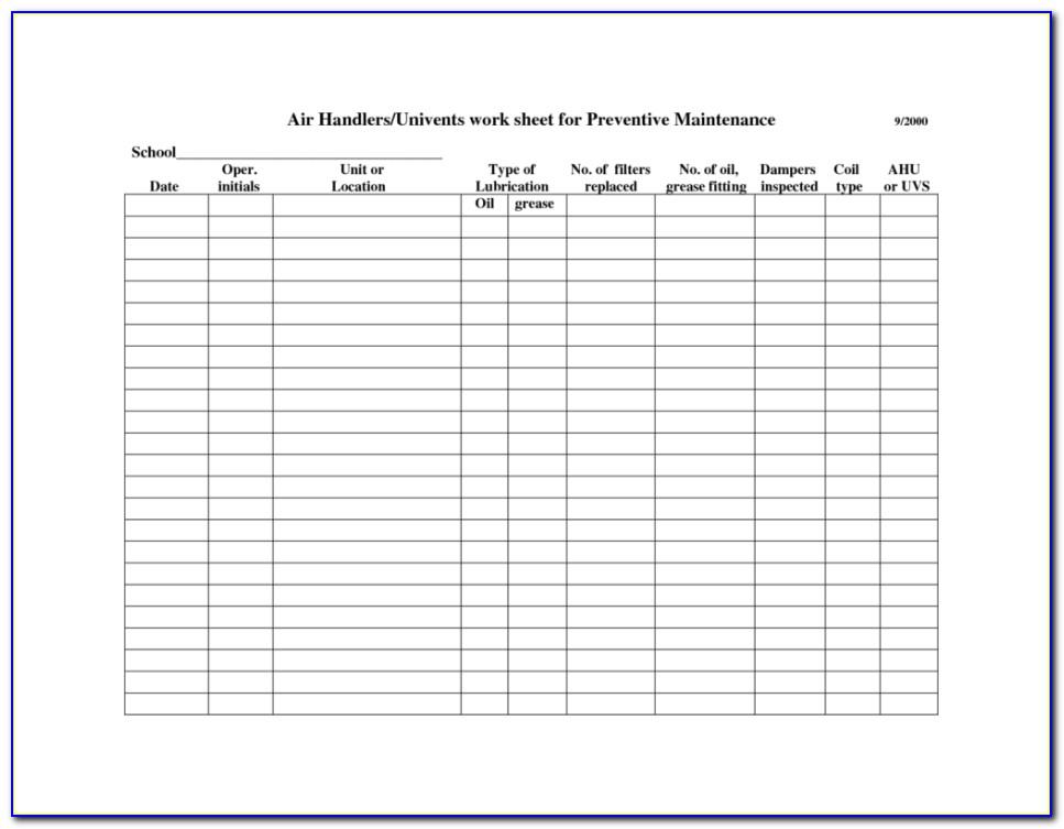 Fta Facility Maintenance Plan Template
