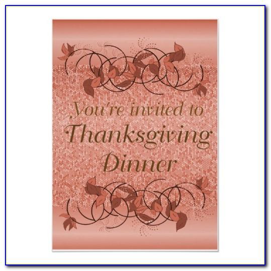 Funny Thanksgiving Dinner Invitation Wording
