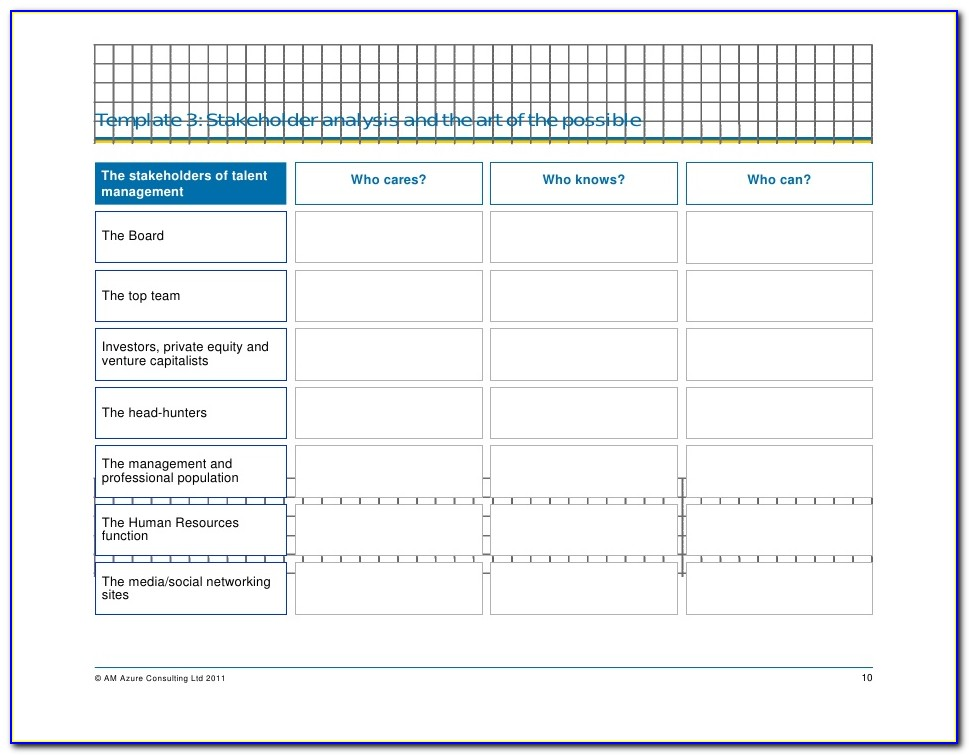 Gap Analysis Template For Succession Planning