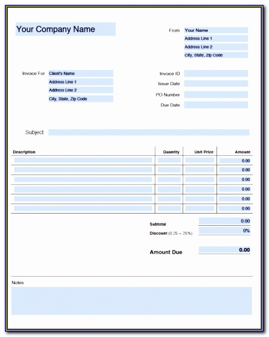 Generic Order Form Template Nyspk Awesome Free Blank Invoice Templates In Adobe Pdf Pdf