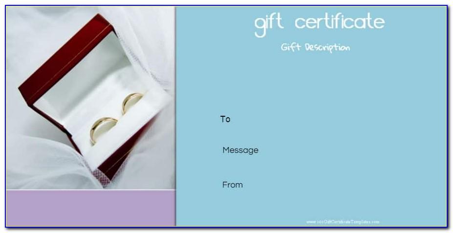Golden Wedding Anniversary Gift Certificate Template