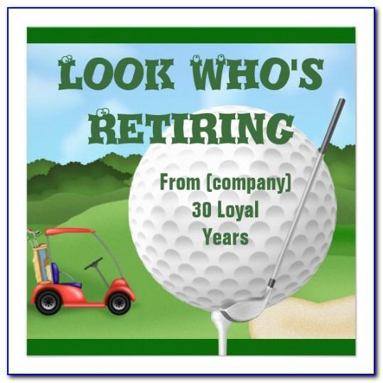Golf Invitation Samples