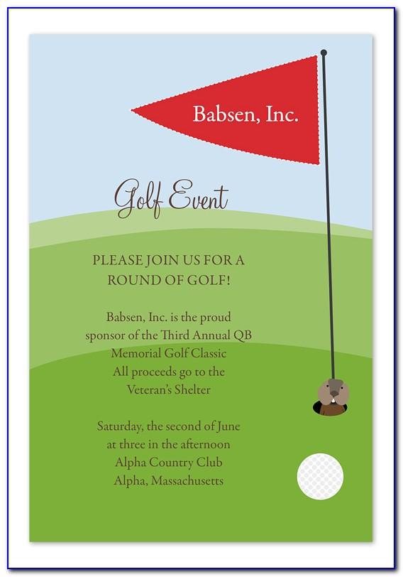 Golf Invitation Template Free Download