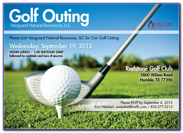 Golf Tournament Invitation Template Word