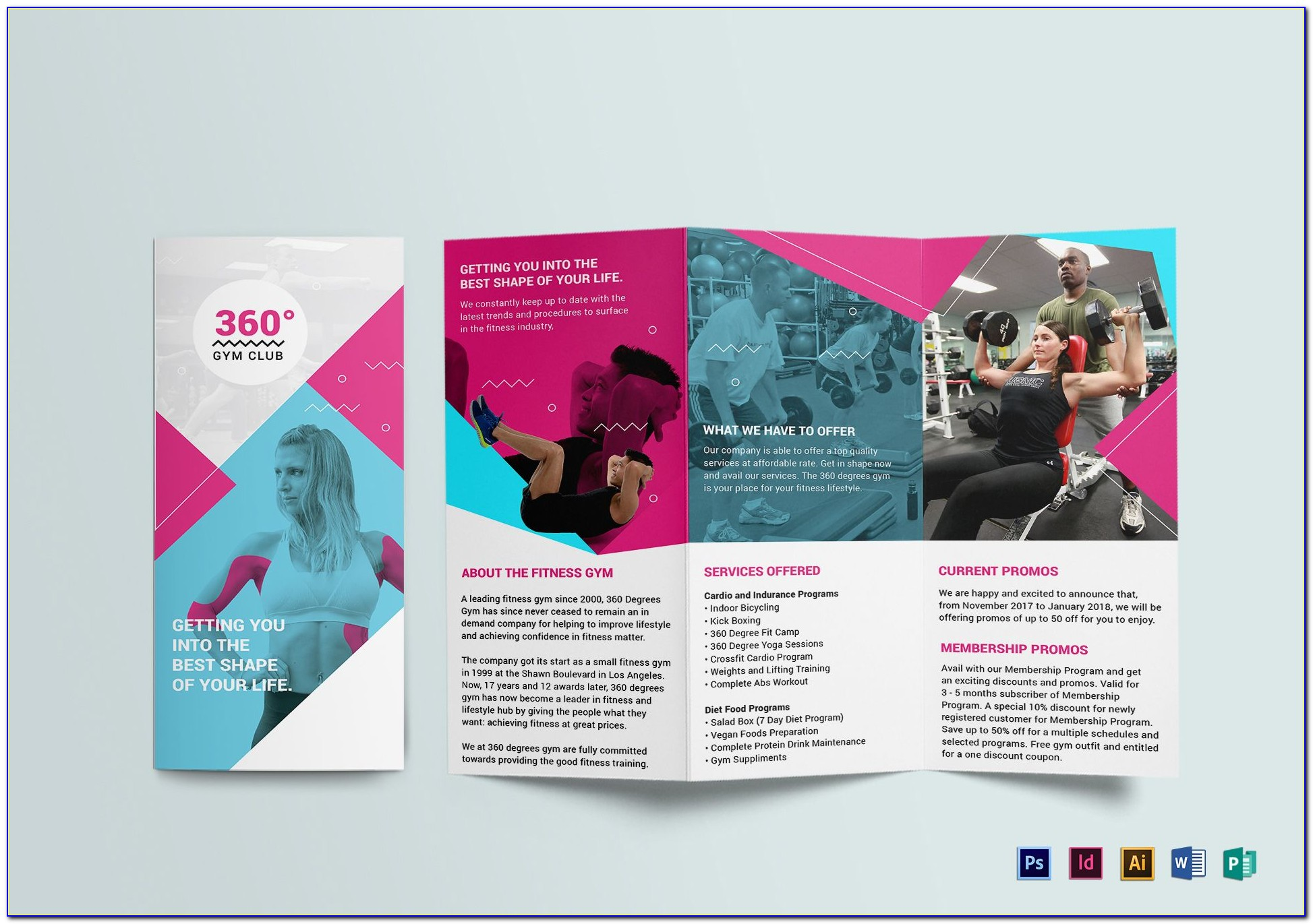 Gym Brochure Template Free