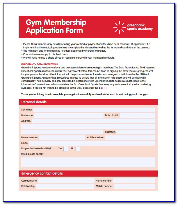 Gym Membership Termination Template