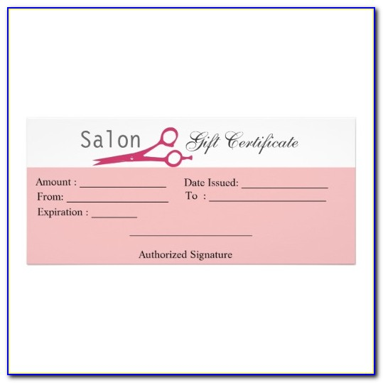 Hair Gift Certificate Template Free