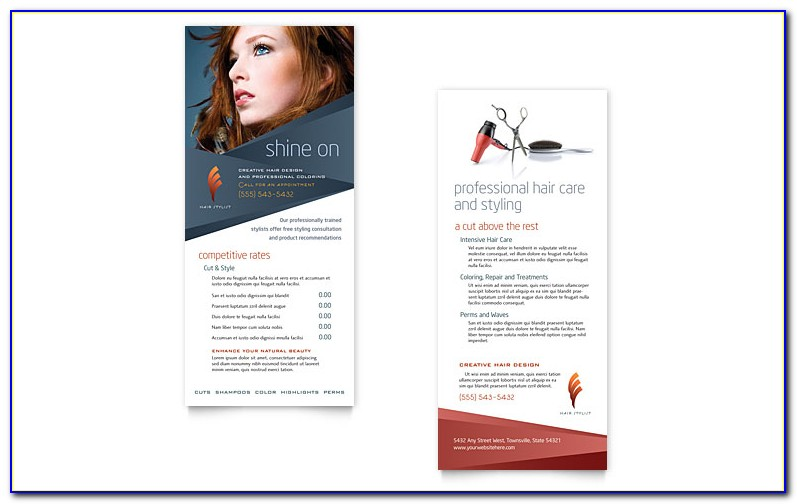 Hair Salon Flyers Templates Free