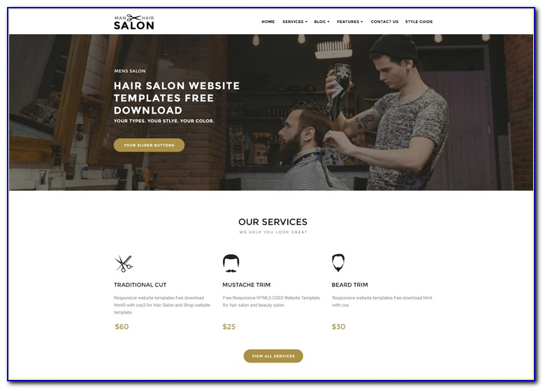 Hair Salon Template Wordpress