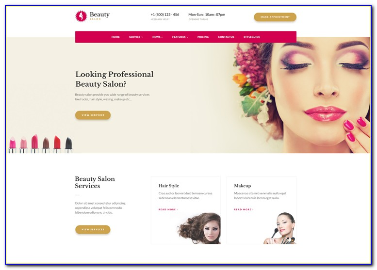Hair Salon Templates Free Download
