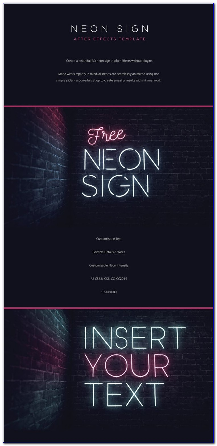 Handwriting Text After Effects Template
