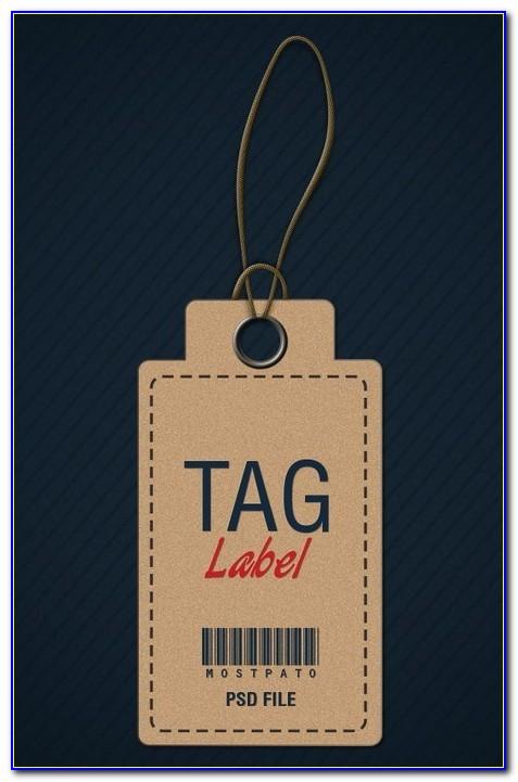 Hang Tag Design Template Psd