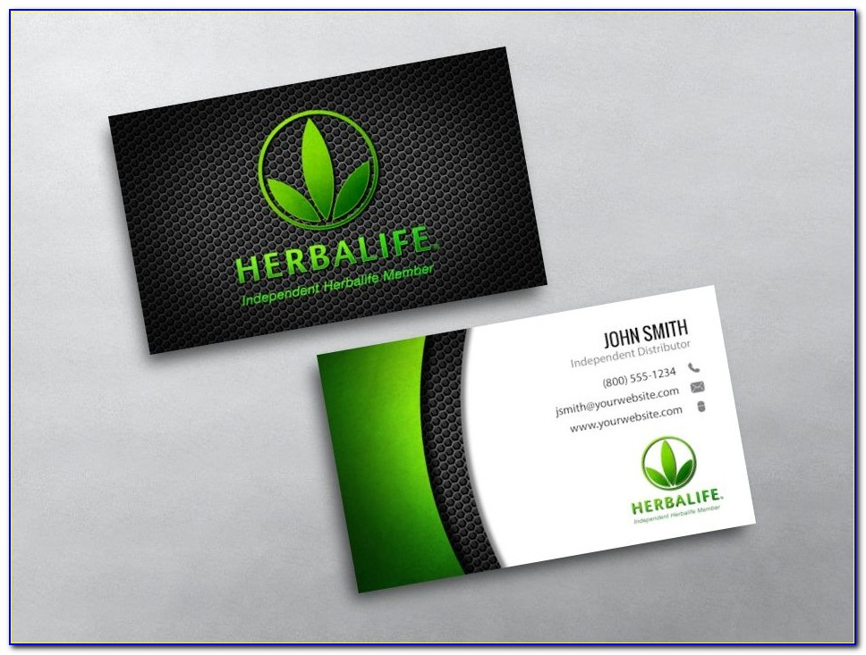 Herbalife 24 Business Card Template