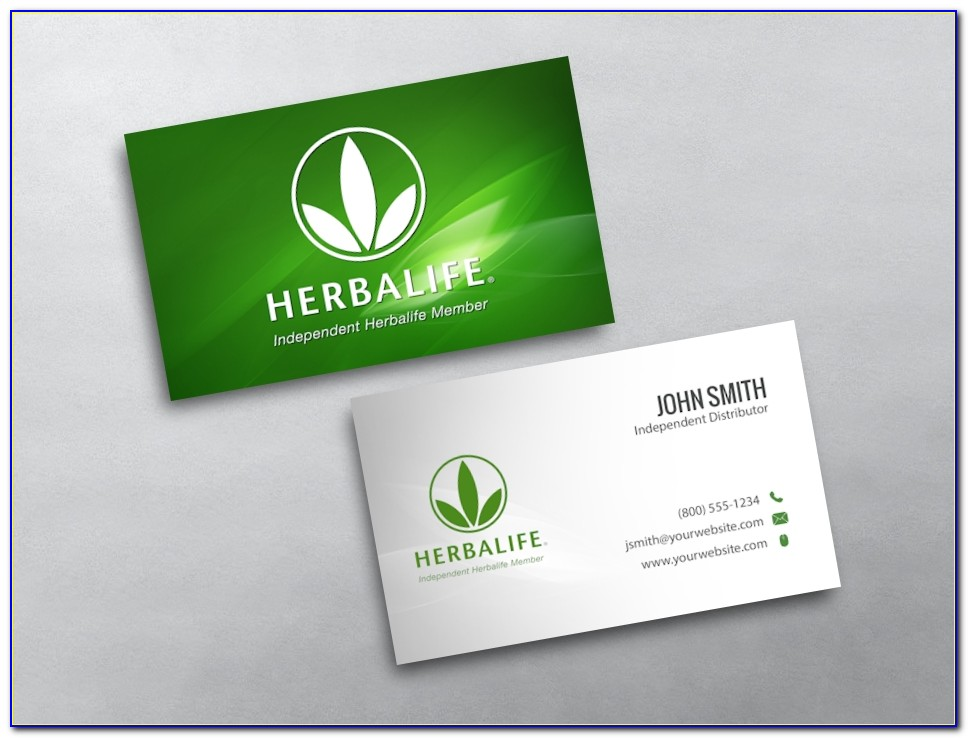 Herbalife Business Card Template Download