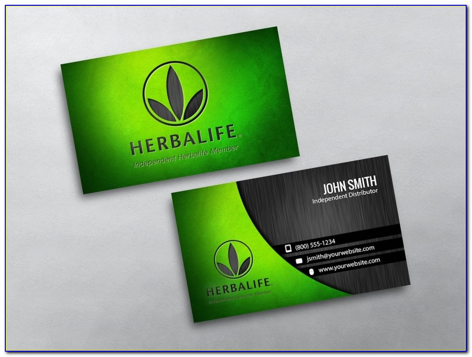 Herbalife Business Card Templates