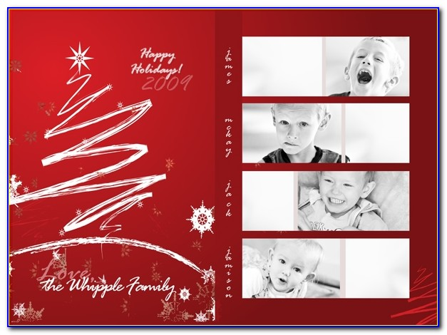 How To Design A Photo Collage Holiday Card In Photoshop Free Christmas Card Templates For Photoshop Free Christmas Card Templates For Photoshop