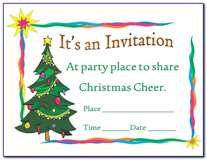 Holiday Invitation Template Word