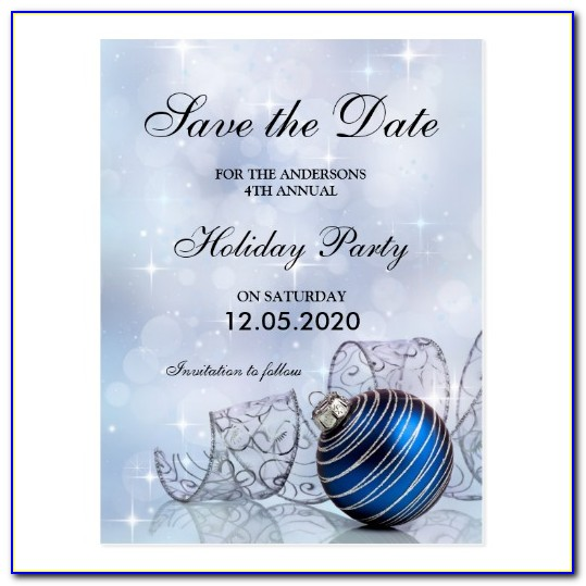 Holiday Party Save The Date Email Templates